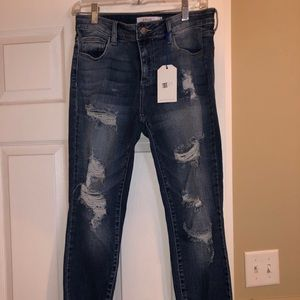 NWT size 7 Cello distressed jeans